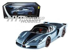 HOT WHEELS 1:18 ELITE FERRARI FXX (2-TONE) DIE-CAST SLIVER/BLUE N2065