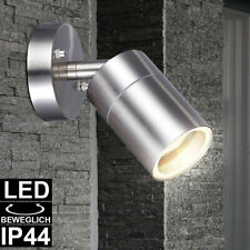 LED Außen Wand Leuchte Edelstahl Garten Strahler Grundstück Spot Lampe beweglich