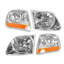 1998-03 FORD F-150/LIGHTNING 97-02 EXPEDITION HEAD & CORNER LIGHT COMBO SET 4PCS