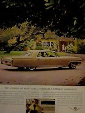"1964 Cadillac Fleetwood Looking At Your World Original Print Ad-8.5 x 10.5"""