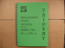 TRIUMPH T160 TRIDENT PARTS BOOK FOR 1975 ONWARDS