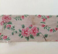 Vintage Pink Ribbon Trim Shabby Flowers Floral Hat Doll Distressed Sewing
