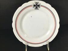1914 Wwi German Porcelain Salad/Dessert Plate, Iron Cross World War One, 7 1/2�