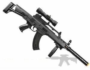 TD-2021 Kids Toy Military Assault Rifle Gun with Flashing Lights Sound Vibratio