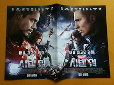 Captain America Civil War,2016 Korean Movie Posters Flyers Ver. 1 of 2 (4 pages)