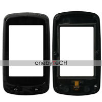 """Black Front Touch Screen Glass+Frame Bezel Replace For 2.6"""" Garmin Edge 810 GPS"""