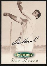 1996 Futera Des Hoare Signature Heritage Collection Cricket Card no. 34