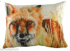 "17""x13"" Country Fox Cushion Evans Lichfield DPA332 43x33cm Cotton Foxy"