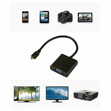 1080P Micro HDMI to VGA Female Video Cable Converter Adapter for PC Laptop O9