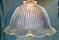 "Holophane Design Shade 11"" X 3 1/4"" Glass Globe Pendant, Fan Lamp Fixture"