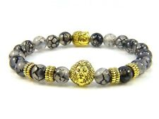 Mens Bracelets Beaded Bracelet Beads For Men Beads Gemstones Lion Buddha Charm