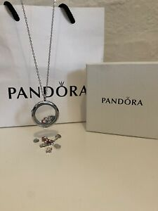 Charms, Floating Circle Locket Necklace | With Gift Box. Stunning