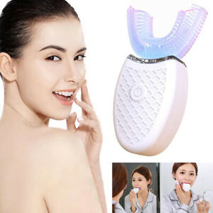 Automatic 360° U-Shaped Electric Toothbrush White Teeth Sonic Oral Cleaning UK