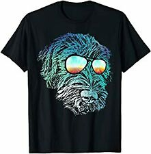 Disco Groovy Wirehaired Pointing Griffon t Shirt Dog Gift