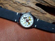 Rara Vintage ROLEX Oysterdate 6694 Blanco Cuadrante Reloj de Hombre De Mickey Mouse