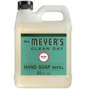 Mrs. Meyer's Clean Day Liquid Hand Soap Refill Basil Scented 2.3LB