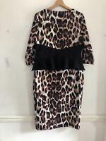 Genese Ladies Leopard Print Dress Size 14