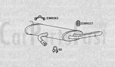 Exhaust Rear Box Seat Altea (LHD) 2.0 Diesel MPV 03/2006 to 12/2010