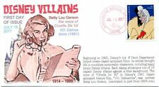 "COVERSCAPE computer generated ""Disney Villains"" forever set of 10 U/O fdc's"