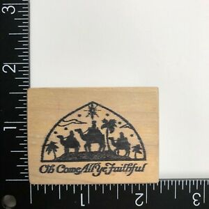 PSX Designs Oh Come All Ye Faithful Wood Mounted Rubber Stamp D502 Christmas