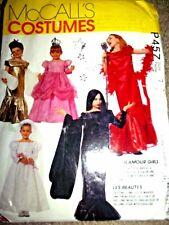 Vintage McCall's Kid Costume Pattern Uncut 1992 Glamour Girls P457 Sz 7 Princess