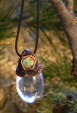 Egg Shaped Clear Crystal Ball pendant Turquoise gem stone: Fairytale & Fantasy