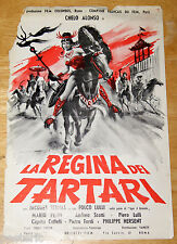 brochure film LA REGINA DEI TARTARI Chelo Alonso Sergio Grieco 1960