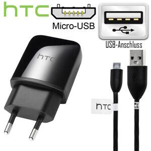 Original HTC USB Ladegerät & Micro USB Ladekabel für One M7 M8 M9 M4 mini Desire