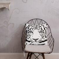 Tiger Print Pillow Beautiful Tiger Face Premium Pillow Printed Front and Back