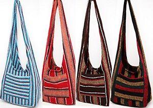 #883 Hippie Bag Cross-Body Baja Sling Bag Tote Classic Jacket Fabric Artisan Mad
