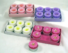 "DAISY FLOWER Colorful Tea Light 1.5"" Candles Set of 24 Home Decor NEW IN BOX"