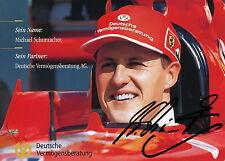 Michael Schumacher Autogrammkarte Unterschrift gedruckt Motorsport Rennsport