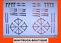 Ersatz-Waffen-Set (48-teilig, Plastik) für DDR Indianer und Cowboys +++ RAR !!!