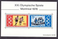 Germany B532 MNH OG 1976 Summer Olympics Montreal Canada Souvenir Sheet of 2