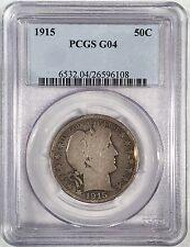 1915 Barber Half Dollar -  PCGS G04 - High Quality Scans #6108