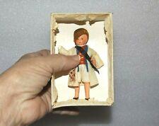 "ANTIQUE ALL BISQUE HERTWIG In original box! 3 3/4"" GERMAN DOLLHOUSE BOY DOLL"