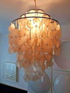 Muschelplättchenlampe shell lamp Muschellampe panton Aera 60er