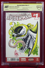VENOMIZED IRON FIST CBCS (not CGC) ART Original Sketch Cover by KEN HAESER!!!