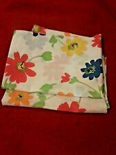 2 Vintage Standard Pillowcases Springmaid Wondercale Red Blue Floral (N212g)b