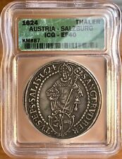 1624, Austria Salzburg, Silver Thaler - ICG XF-40 Patina