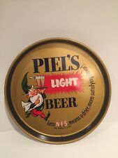 """Piel'S Metal Beer Tray { 12"""" diameter } used.Vg condition. Brooklyn Ny"""