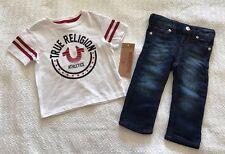 True Religion Boys Varsity Short Sleeve Tee and Pants Set - Nwt *Size 12M