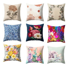Flower Print Throw Pillow Case Sofa Bed Home Car Home Decor Cushion Cover Novel