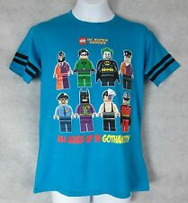 Lego DC Super Heroes Boys T-Shirt New Mixed up in Gotham City Batman Minifigures