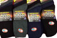 12 Pairs Men's Thermal Winter Socks Thick Cotton UK 6-11 EU 39-45 Ski Hiking