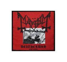 MAYHEM - DEATHCRUSH - WOVEN PATCH - BRAND NEW - MUSIC BAND 2366