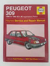 Peugeot 309 Inc GTI Haynes Manual 1986 to 1993 (C to K reg)  GTI SRI XSi GL