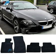 For 07-10 BMW E63 E64 M6 6-Series Black Nylon Floor Mats Carpets 4PC