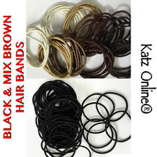 Katz Thin & Spiral Elastics Snag Free Hair Band Ponytail Bobbles Black & Brown