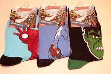 3 Pairs Boys Avengers Ankle Socks DC Comics Hulk Iron Man Captain America Kids 9 - 12